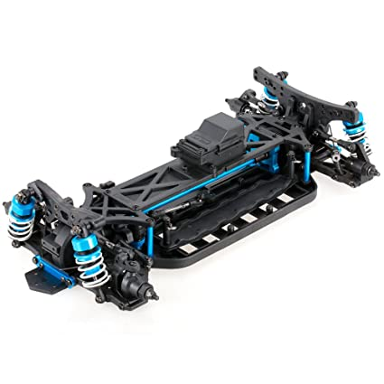 Amazon.com: 1/10 4WD Racing Car Chassis Frame Kit Electric On-Road ...