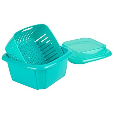 Hutzler 374TU Berry Containers, 2 pint, Turquoise