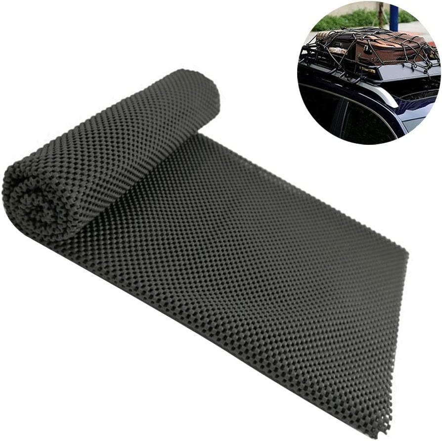 """HONUTIGE Roof Cargo Bag Protective Mat Universal Roof Rack Pad 34/"""" x 43/"""" Foldable Cuttable Thick PVC Protection Pad with Extra Cushioning for Protecting Car Roof Carrier Bags /& Car Roof"""