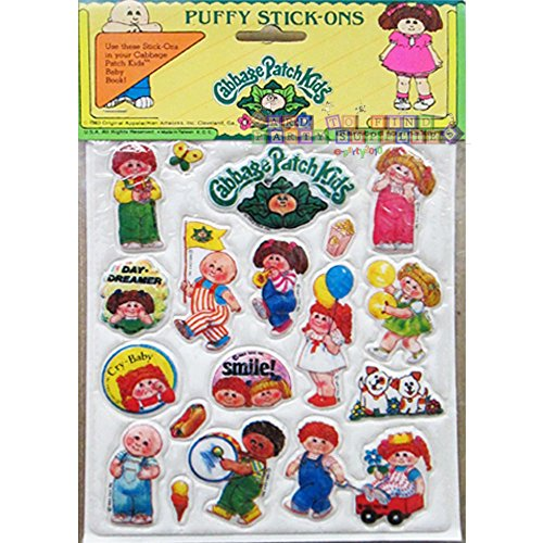 Cabbage Patch Kids Vintage Puffy Stickers Style 4 (1 sheet)
