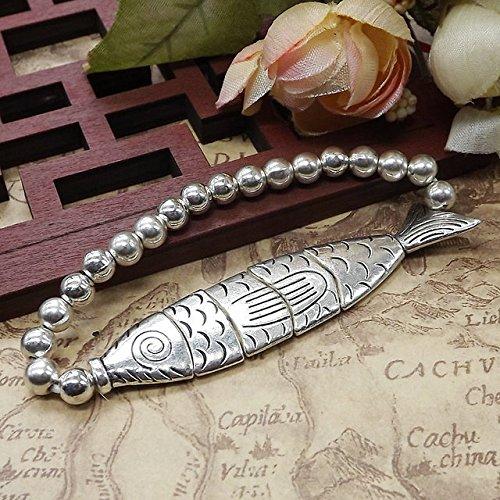 Sigma Miao Miao silver Tibetan silver jewelry retro women's bracelet handmade national fish bracelet S7639