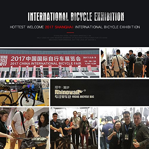 Roful RHINOWALK 10L 100% Waterproof Saddle Bike Bag Package for Bicycle Cycling (Gray) by Roful (Image #6)