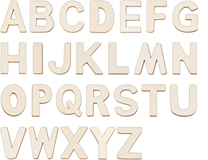 Wood letters cut outs 1 12 small unfinished wooden letters A-Z kids crafts supplies