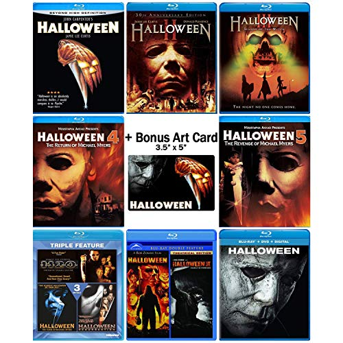 Halloween: Ultimate 11 Movie Collection: Complete Original + Rob Zombie Remake + 2018 Sequel Blu-ray Series + Bonus Art -