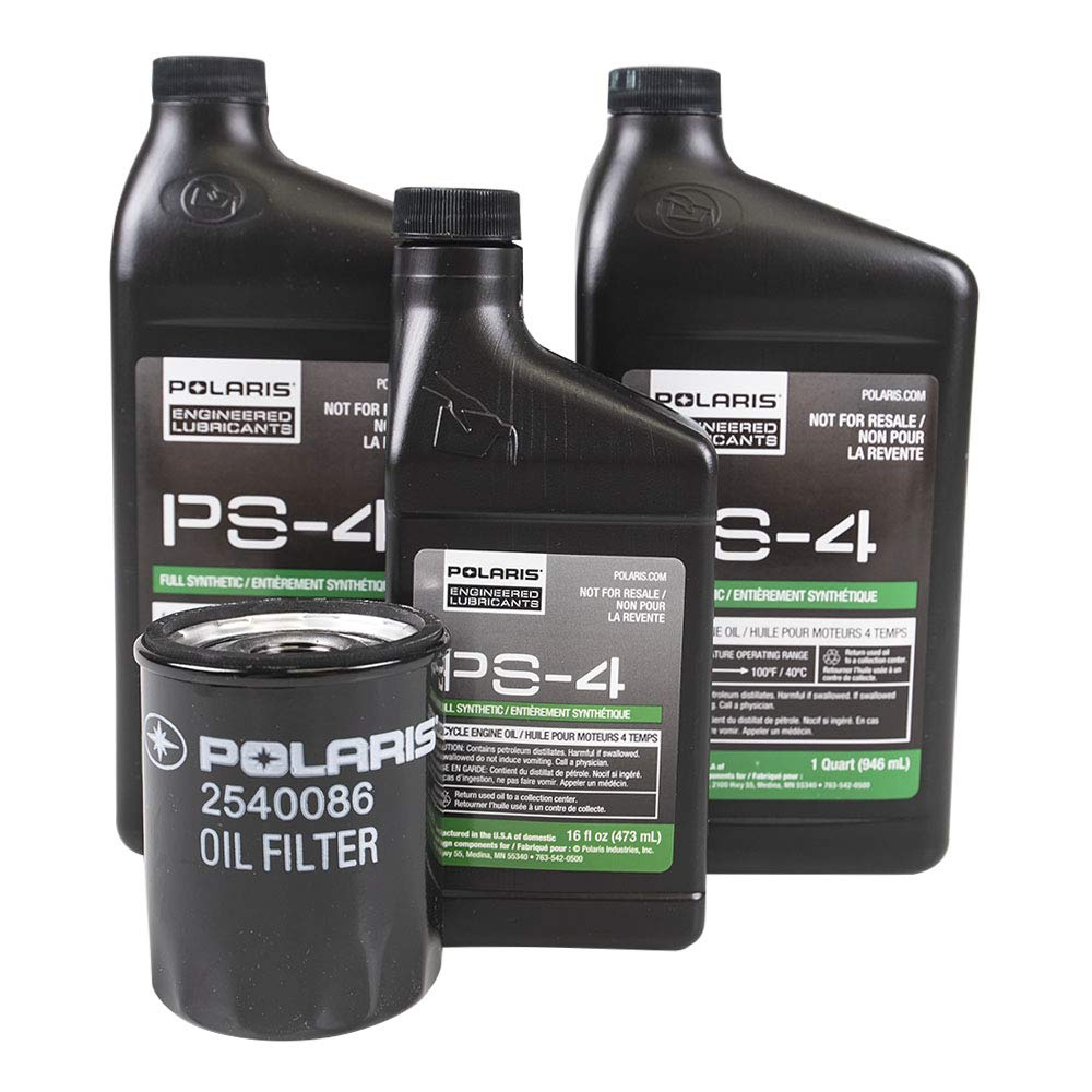 PURE POLARIS Ranger/RZR 900 2013, PS-4 OIL CHANGE KIT 2.5 QTS, with filter 2540086, OEM ITEM # 2879323 by Polaris