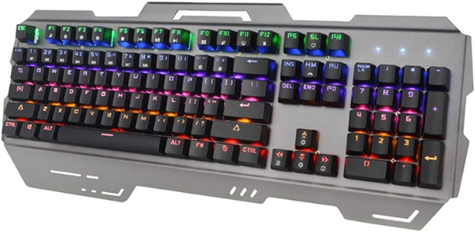 Easy to Operate Color : A Wear-Resistant with Mouse Touch Function Green Axis Metal Cable Disc Game Dedicated Wyyggnb Gaming Keyboard Computer Mechanical Keyboard