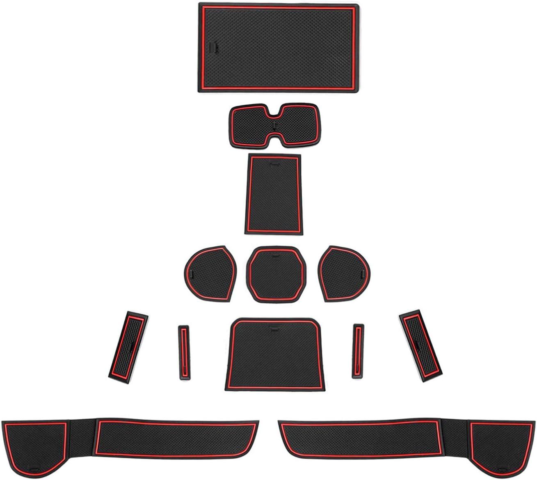 Cdefg Für Suzuki Ignis Auto Gummimatten Mittelkonsole Antirutschmatten Türschlitz Rutschfest Anti Staub Becherhalter Gummi Matte Armlehne Aufbewahrung Pads Innenraum Zubehör Rot Auto