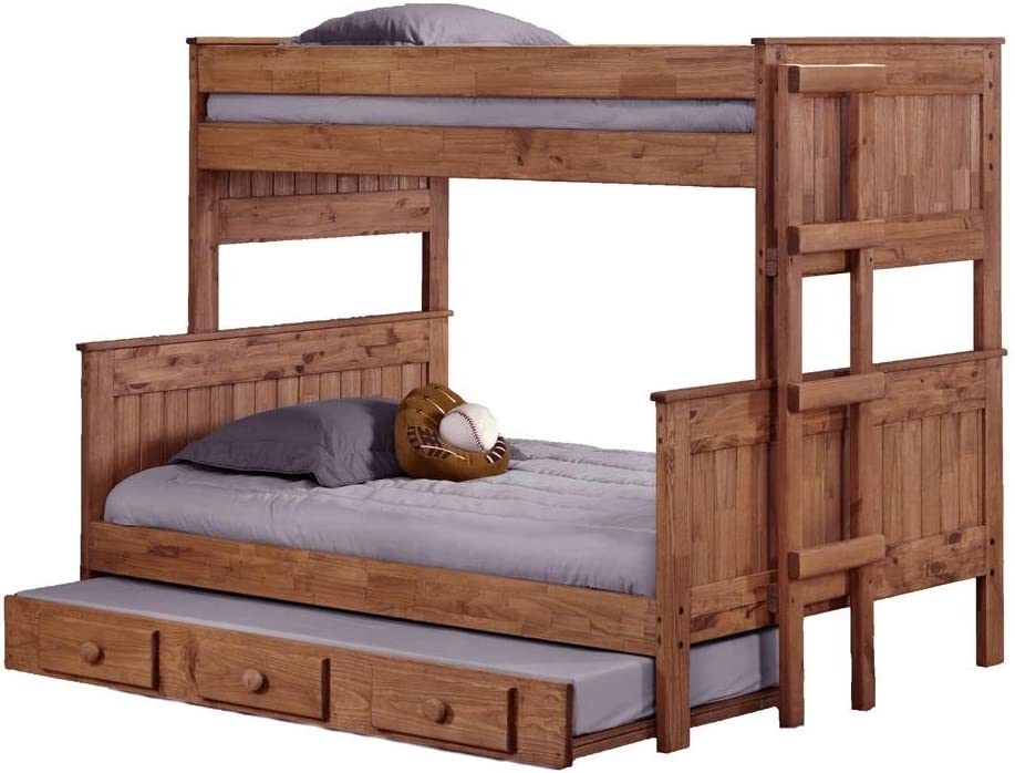 Twin Over Full Stackable Trundle Bunk Bed by Chelsea Home