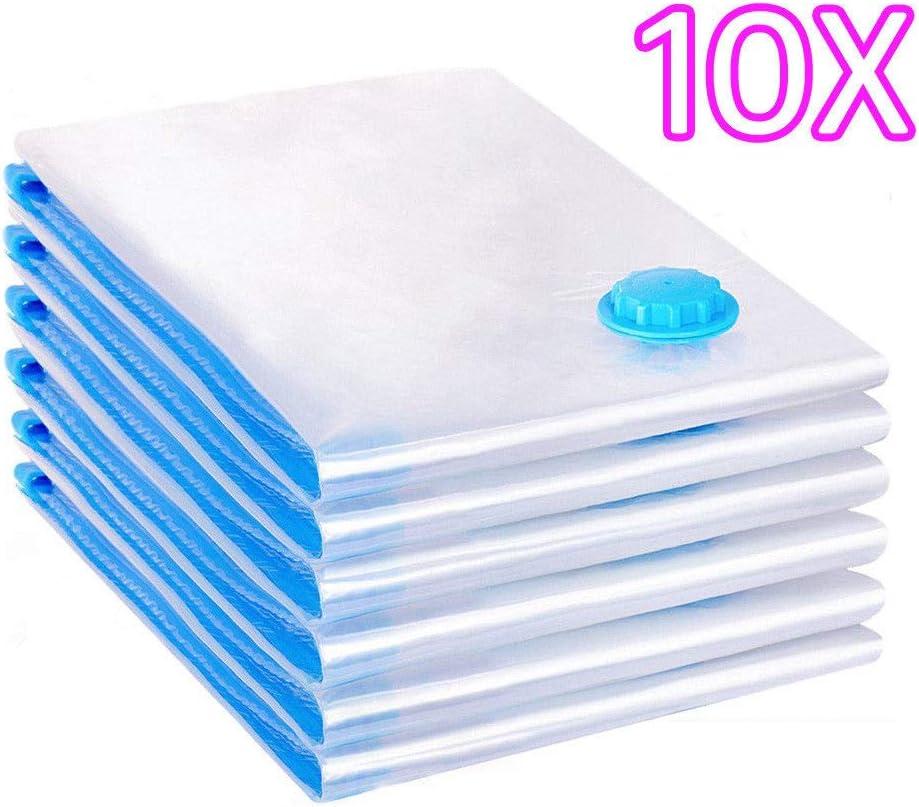 TAHA  /® 10Pcs 100x80cm Vacuum Storage Bag For Clothes Saving Bag Vaccum Pack Saver