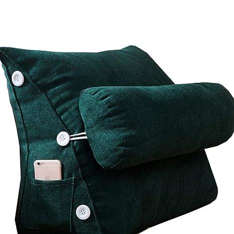 HKDZ1 almohadas de cama, Cojín triangular Almohada Cabezal ...