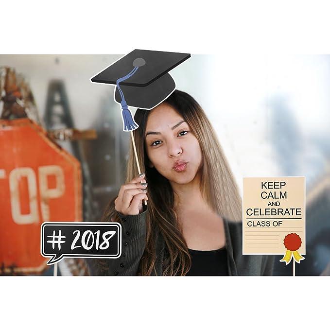 LUOEM 2018 Graduazione Photo Booth Puntelli-Laurea Decorazioni foto stand  puntelli per il 2018 Compleanno di compleanno Capodanno Festa per feste 30  ... 50bb8e522850