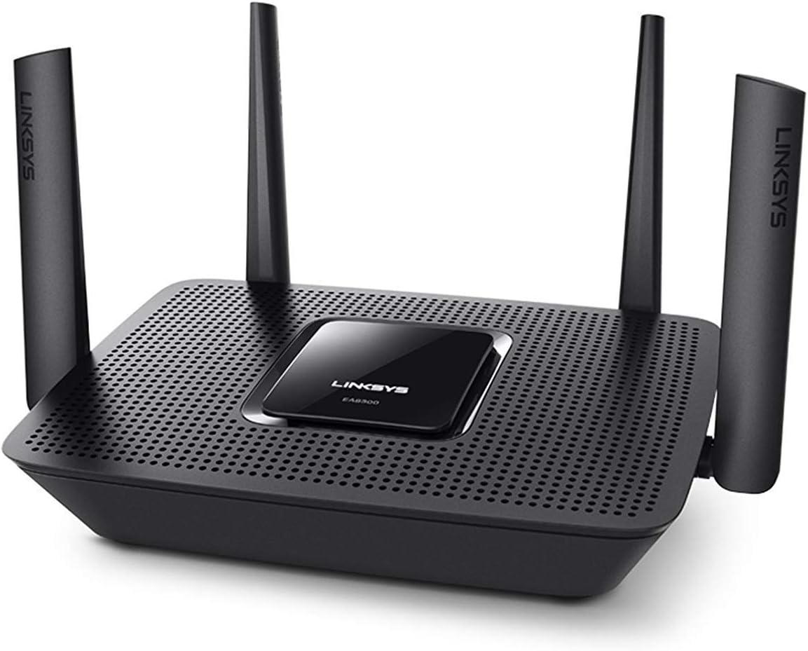 Linksys MR8300 Router WiFi mesh tribanda AC2200 (funciona con el sistema Velop WiFi para todo el hogar, 4 puertos Ethernet Gigabit, controles parentales por aplicación, compatible con Alexa)