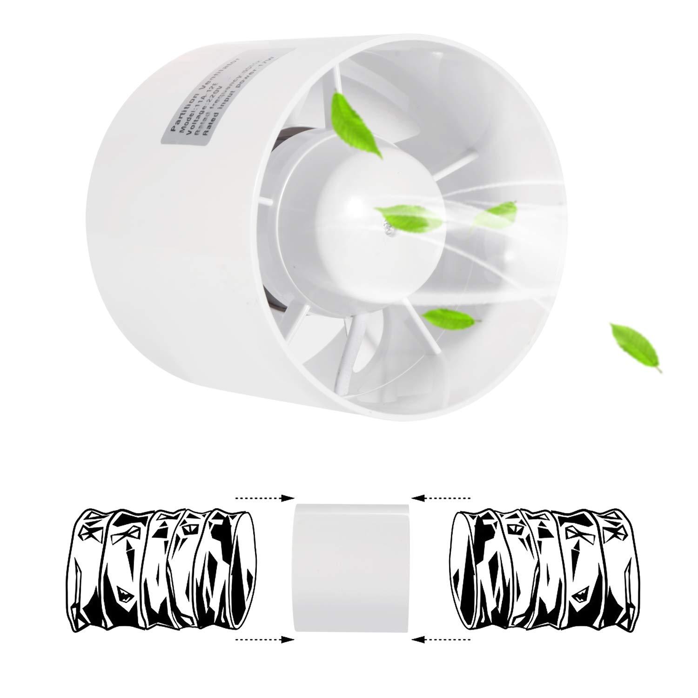 Oopen Ventilateur silencieux pour tente de culture hydroponique Diam/ètre 125 mm 12,7 cm