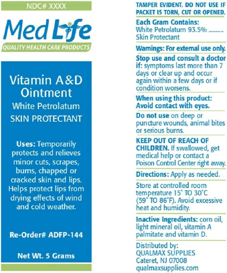 Medlife Super Vitamins A and D Ointment, 144 Foil Packet