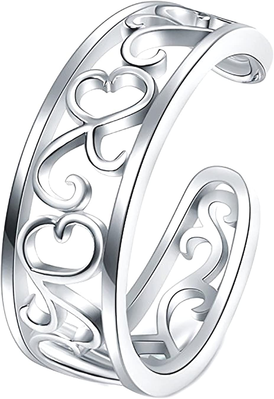 USA Seller Flowers Toe Ring Sterling Silver 925 Best Price Jewelry Gift