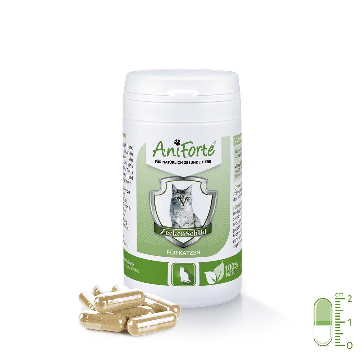 AniForte Zeckenschild natürlicher Zeckenschutz 60 Kapseln - Naturprodukt für Katzen Görges Naturprodukte GmbH