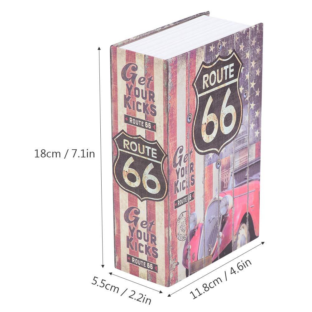 armario de almacenamiento privado de los objetos de valor de la joyer/ía cerradura de combinaci/ón de la contrase/ña ocultada ROSA Caja fuerte creativa del libro