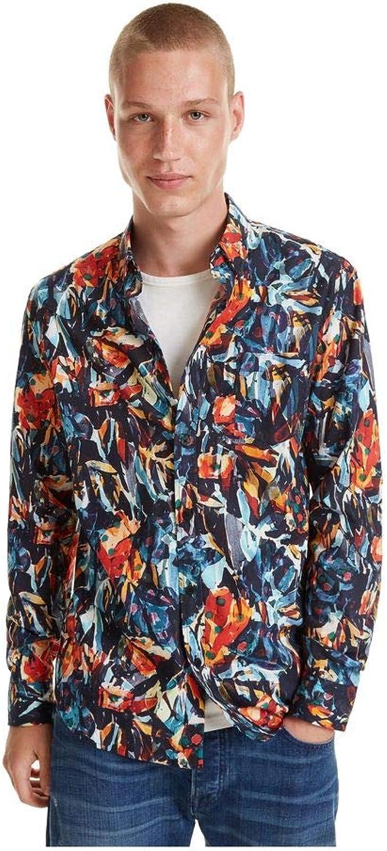 Desigual - Camisa Victor Hombre Color: 2000 Talla: Size S ...