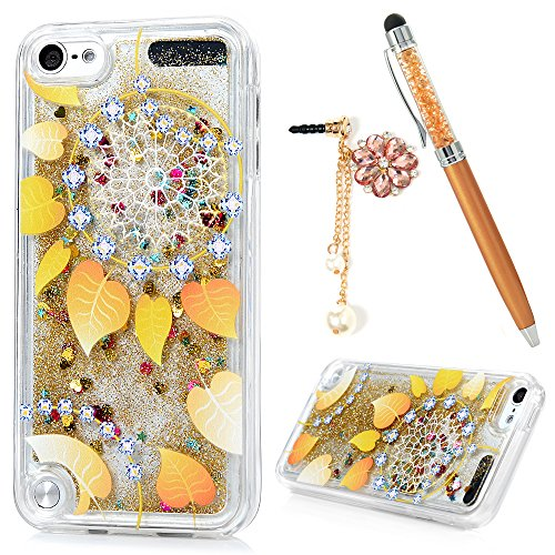 Price comparison product image Badalink iPod Touch 6 Case Flowing Liquid Floating Bling Glitter Sparkle Shockproof Drop Protection TPU Flexible Bumper Sim-Fit Fashion Painting Protective Cover for iPod Touch 6 - Pattern 9