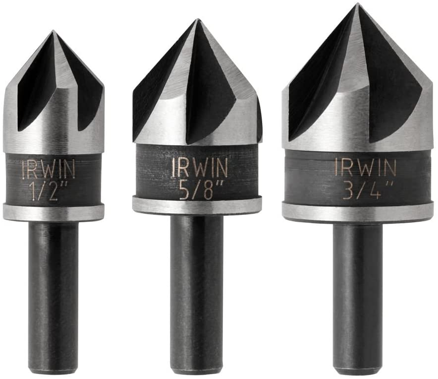 Black Oxide Irwin Tools 1877720 Countersink Drill Bit 3-Piece