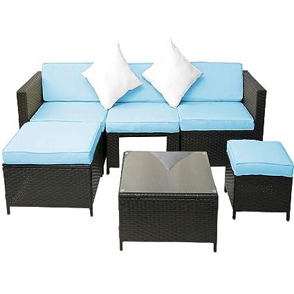 Amazon.com: 6 Piece Patio Furniture Set,JULYFOX Indoor Outdoor ...