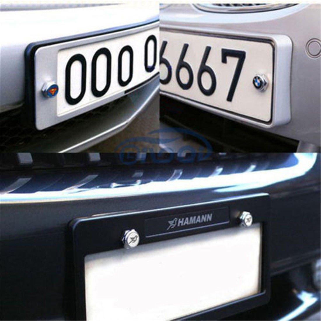 cubierta para el logotipo de TRD marco de tornillos Bestmay Free Env/ío 4 piezas para matr/ícula de coche