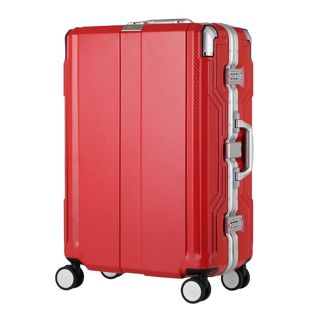 [アウトレット] 防犯ブザー機能搭載 スーツケース キャリーバッグ キャリーバック キャリーケース 大型 以上 ダブルキャスター LEGEND WALKER レジェンドウォーカー B-6708-68 レッド B07PN7Q3RS