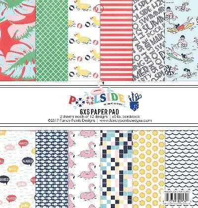 Poolside 2904 Fancy Pants Designs Single-Sided Paper Pad, Multicolor ()