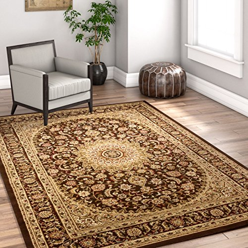 (Sultan Medallion Brown Oriental 5 x 7 (5'3