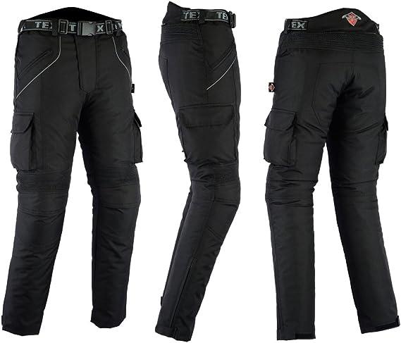 Schwarz Wasserdicht Cordura Alle Gr/ö/ßen Texpeed Herren Motorradhose mit Protektoren Textil