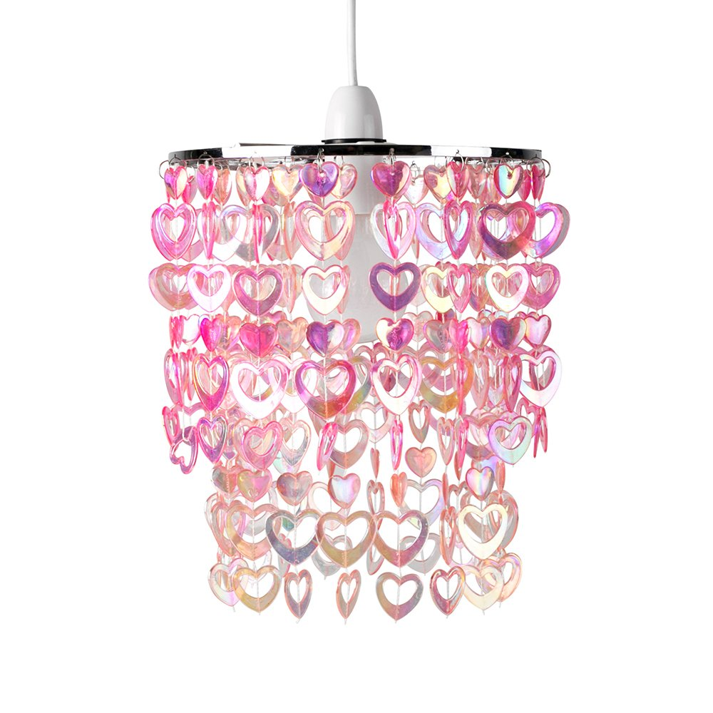 Beautiful pretty pink acrylic love heart beads ceiling pendant beautiful pretty pink acrylic love heart beads ceiling pendant childrens light shade amazon lighting arubaitofo Gallery