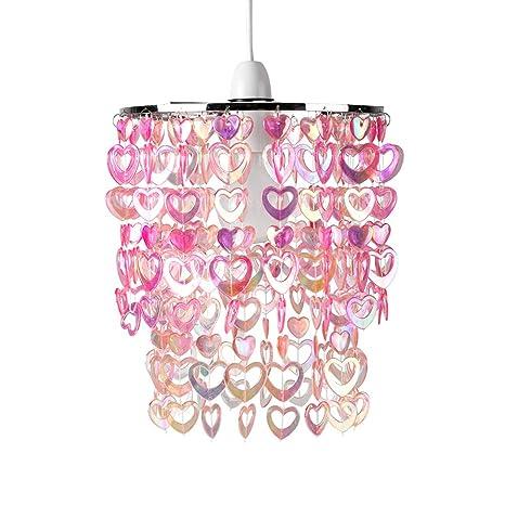 MiniSun - Hermosa pantalla para lámpara de techo Cheltenham - con corazones brillantes