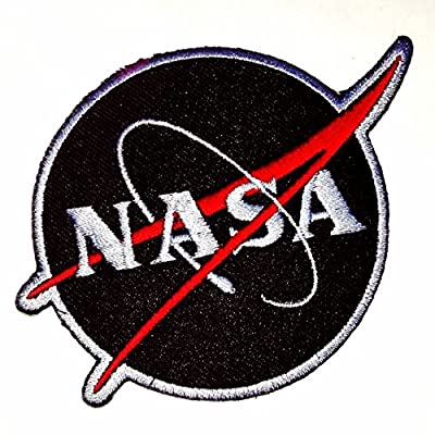 NASA USA (Black-Red) Iron on Patch by 3A1Y