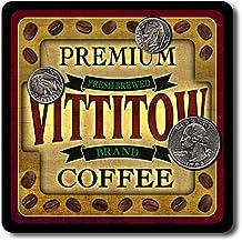 Vittitow Coffee Neoprene Rubber Drink Coasters - 4 Pack