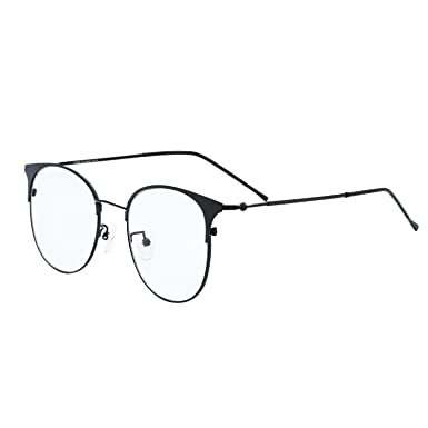 65c2af48e068 eyeooqz Modern Cat Eye Shape Optical Eyewear Glasses Oversize and  Superlight Frames (Black)