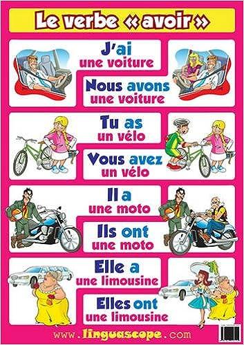 Amazon Fr French Poster Le Verbe Avoir Derone Stephane Livres