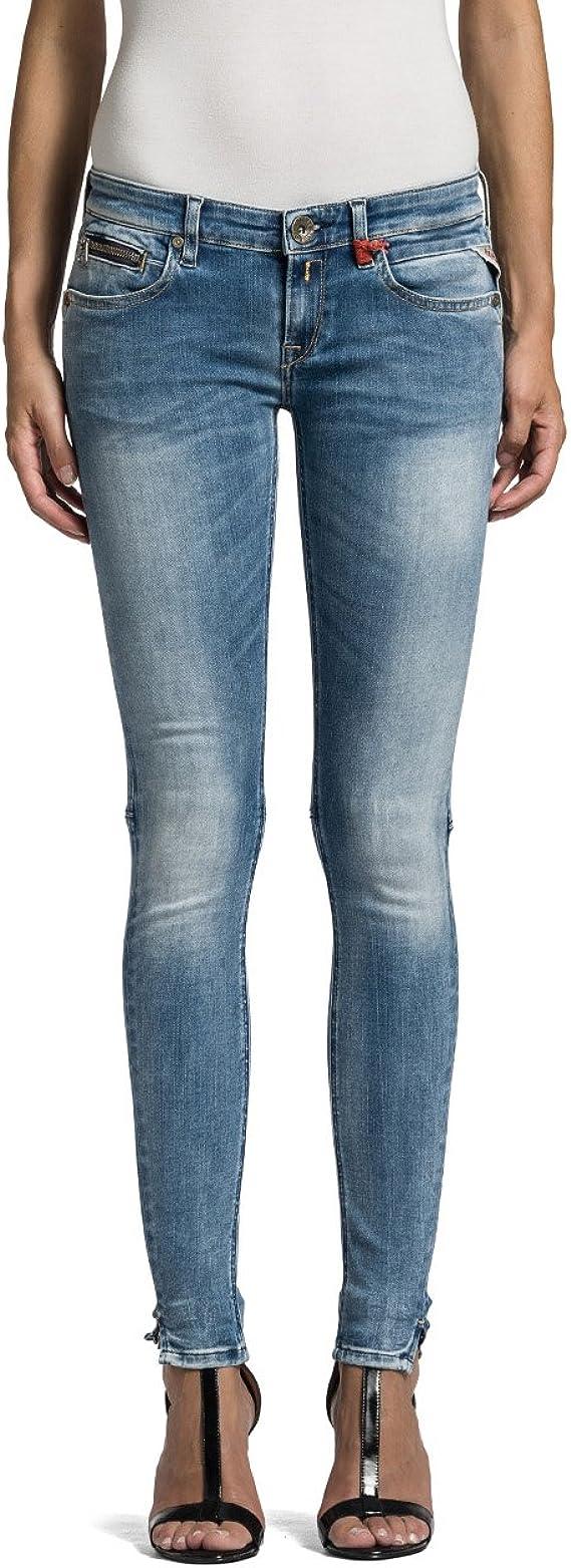 Replay Damen Slim Jeans Katewin Hyperflex, Schwarz (Denim 7), W26L32 (Herstellergröße: 26)