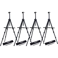 "4 Pack Easel Stand, Ohuhu 72"" Artist Easels for Display, Aluminum Metal Tripod Field Easel with Bag for Table-Top/Floor…"