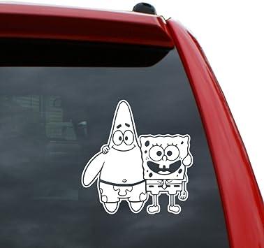 SpongeBob Guitar Cartoon Car Bumper Sticker Decal 5/'/' x 3/'/'