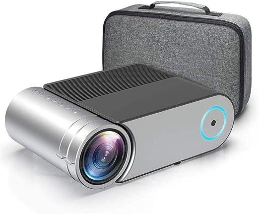 Mini proyector, proyector de vídeo HD 3800 Lux con 50.000 Horas ...