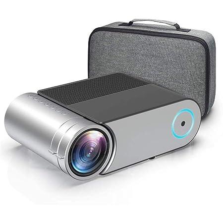 QLPP Mini proyector, proyector de vídeo HD 3800 Lux con ...