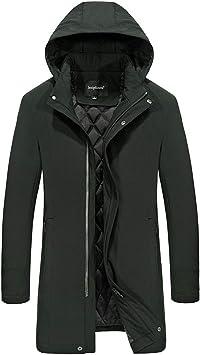 メンズコート・ジャケット-メンズ秋冬カジュアルミドル丈ジャケット厚手のフード付きジャケット