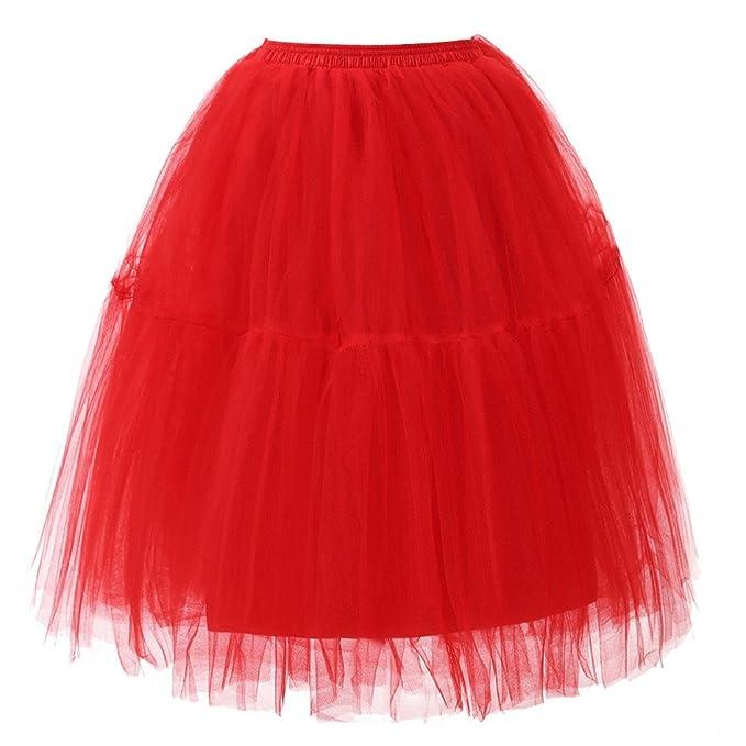 WOZOW Faldas tutú de Cintura Alta de Tul Plisado en línea para ...