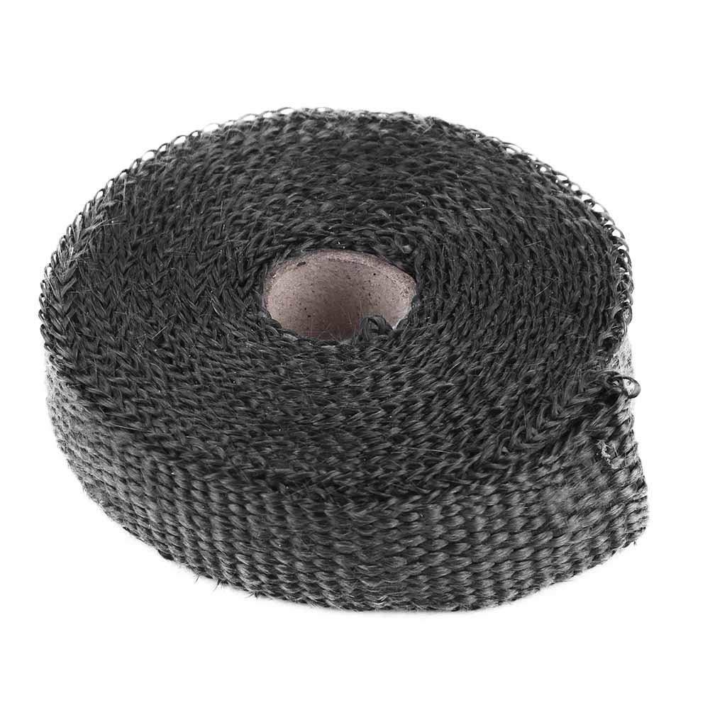 Noir Duokon 5m Enveloppe de Chaleur D/échappement de voiture,Isolation Thermique des gaz D/échappement avec 4 attaches de C/âble en Aacier inoxydable Multicolore pour voiture moto