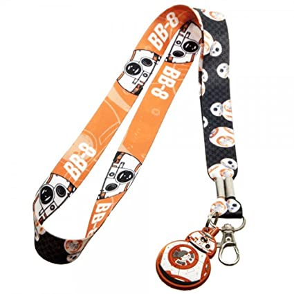 Star Wars 7 VII BB8 cordón llavero Id Badge Holder con PVC ...