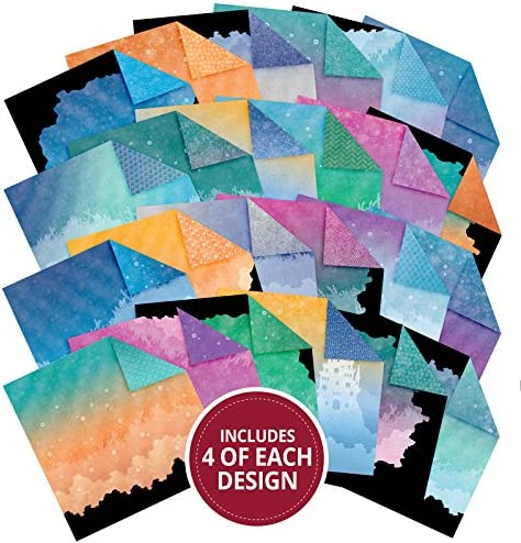 2 each Hunkydory Twilight Under the Sea Adorable Scorable 24 Sheets in 12 Shades