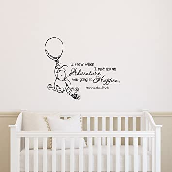 Classic Winnie The Pooh Wall Decal Quote I Knew When I Met You An Adventure  Was