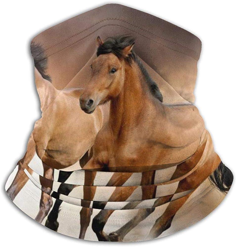 Giles John Calentador De Cuello Caballo Animal Diseños Salvajes Bufanda A Prueba De Viento Sombreros Cómodo Cuello Polaco Máscara Facial para Clima Frío Deportes De Invierno