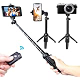 Selfie Stick,Venfoto Extendable Selfie Stick Tripod - Wireless Remote Bluetooth Phone Holder for IOS System and Android 4.3 System Above SmartPhone Selfie Stick for iPhone/Samsung/GoPro