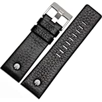 Italian Calfskin Leather Watch Band Fit for Men's Diesel Watches Women's Soft Replacement Straps Wrinkled with Rivet 22…